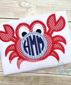 crab-monogram-applique-design