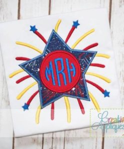 star-firework-firecracker-monogram-embroidery-applique-design