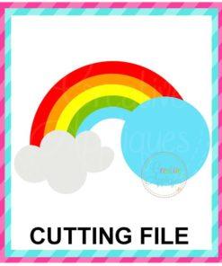 Rainbow Monogram SVG cut file