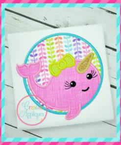 unicorn-fish-narwal-girl-circle-embroidery-applique-design